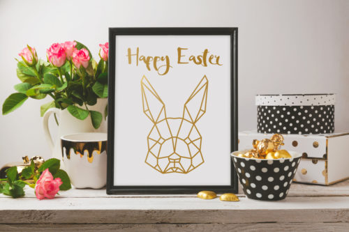 Polygon Hase Freebie SILHOUETTE LOVE Happy Easter