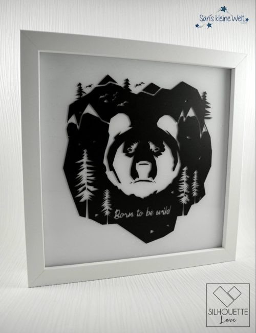 Plotterdatei Born to be wild Bär by SILHOUETTE LOVE
