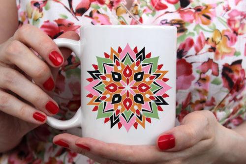 Mandala-Blume 2 by Alex Primitive