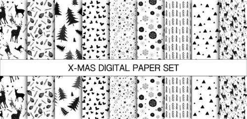 X-MAS DIGITAL PAPER SET